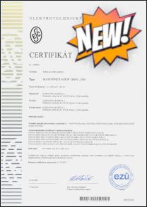 Certifikát Kabely Maschinex pro kolejová vozidla