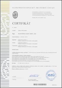 Certifikát výrobku Kabely pro tramvaje