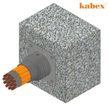 Zatěsnění kabelové průchodky typu Salnik pro jaderné elektrárny